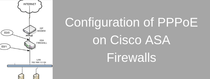 Cisco ASA Firewall with PPPoE (Configuration Example on 5505)
