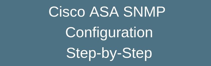 asa snmp configuration