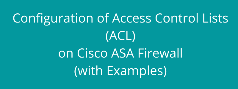 asa access-list