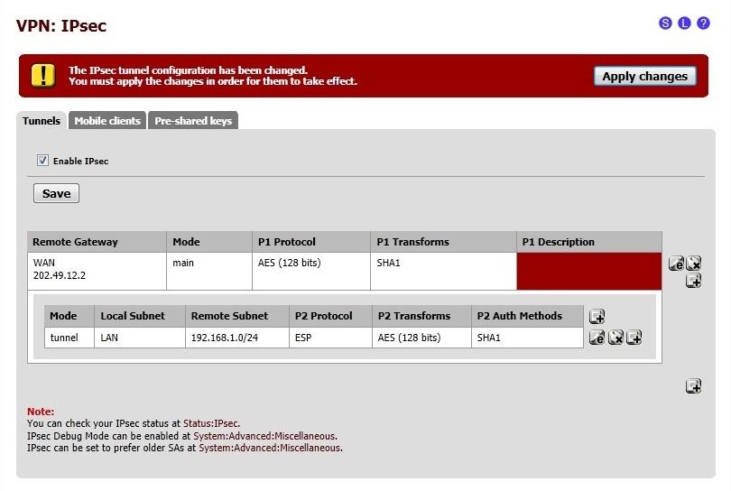 Site-to-Site IPSEC VPN Between Cisco ASA and pfSense