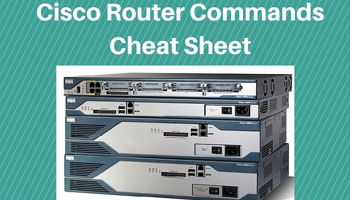 Cisco IOS Router Configuration Commands - Cheat Sheet (PDF)