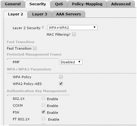 Configuration of Cisco WPA2 Enterprise and Personal