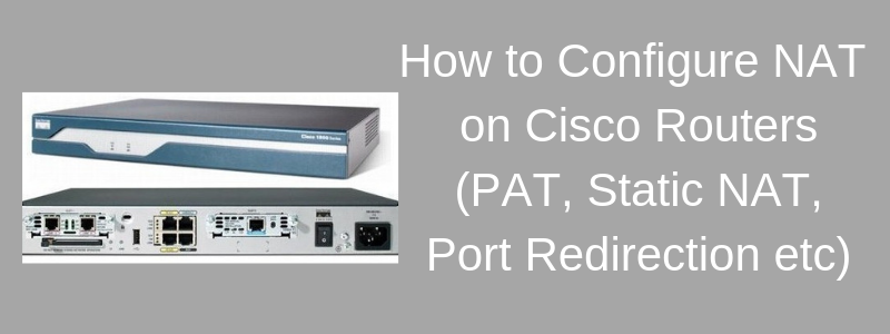 cisco router configuring network address translation