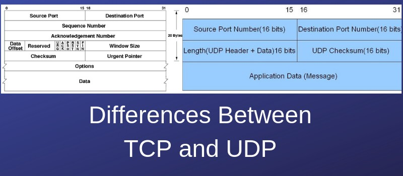 comparison and differences between tcp and udp