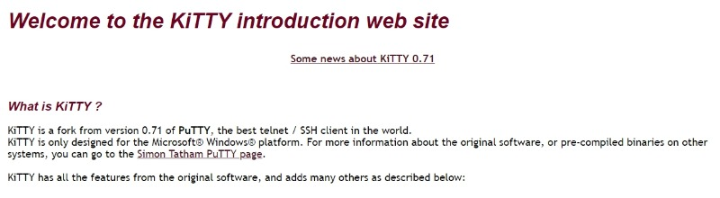 kitty ssh client