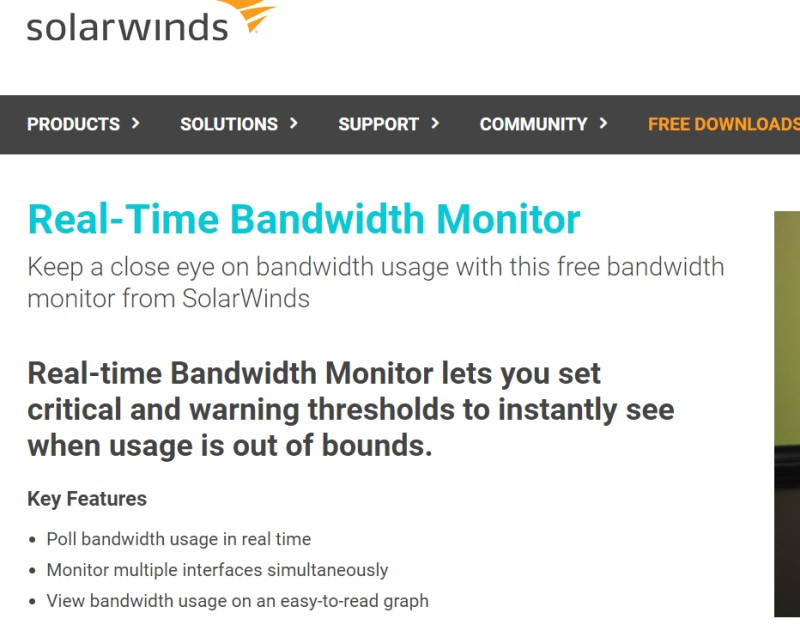 solarwinds free traffic monitor
