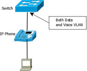 ip phone and voice vlan