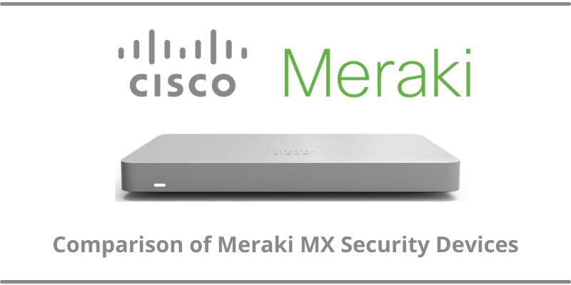 Comparison of Meraki MX Security Devices
